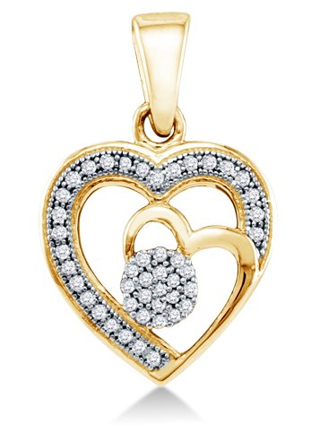 0.15 cttw. Diamond Heart Pendant - 02NN42