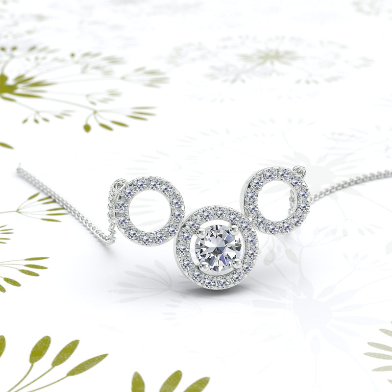 Triple Circle Diamond Pendant - 02NN60