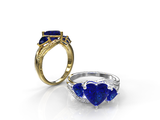 Sapphire Engagement Ring - 02SH21