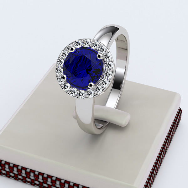 Sapphire Engagement Ring - 02SH24