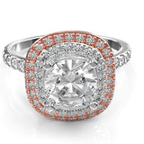 18K Two tone Engagement Ring - 02TX25