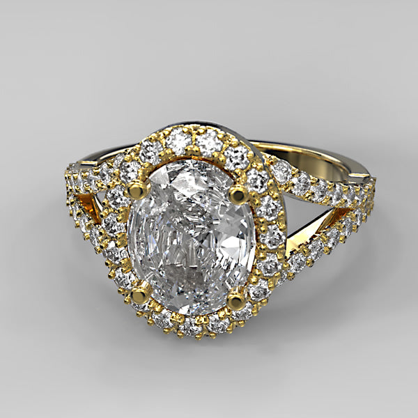 Gold Engagement ring  - 02TX29