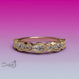 Milgrain Marquise and Dot Diamond Eternity Ring - 02US06