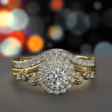 0.55ct Round Diamond Gold Bridal Set - 02US10