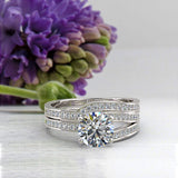 1.25ct Brilliant Diamond Gold Bridal Wedding Set - 02US16B