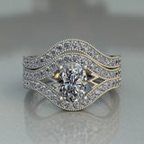 Oval Complete Bridal Wedding Set - 02US42