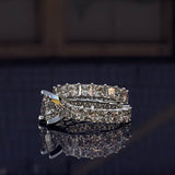 Princess Cut Gold Complete Wedding Set - 02US50