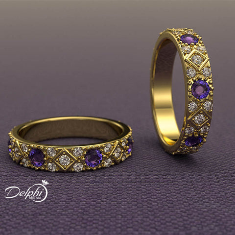 Sapphire and Diamond Eternity Ring - 02US51