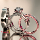 1.7ct Round Cut Diamond Interchangeable Complete Wedding Set - 02US67