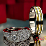 0.88ct Diamond Gold Complete Wedding Set - 02US79