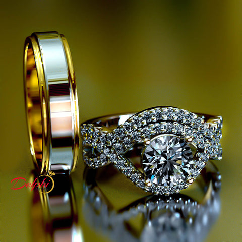 Infinity Design Gold Complete Wedding Set - 02US94