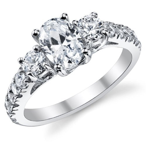 Sterling Silver 925 Engagement Wedding Ring - 03A26
