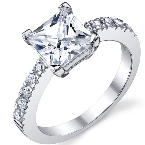 Sterling Silver 925 Engagement, Wedding Ring
