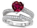 Heart Shape  Ruby Engagement Ring