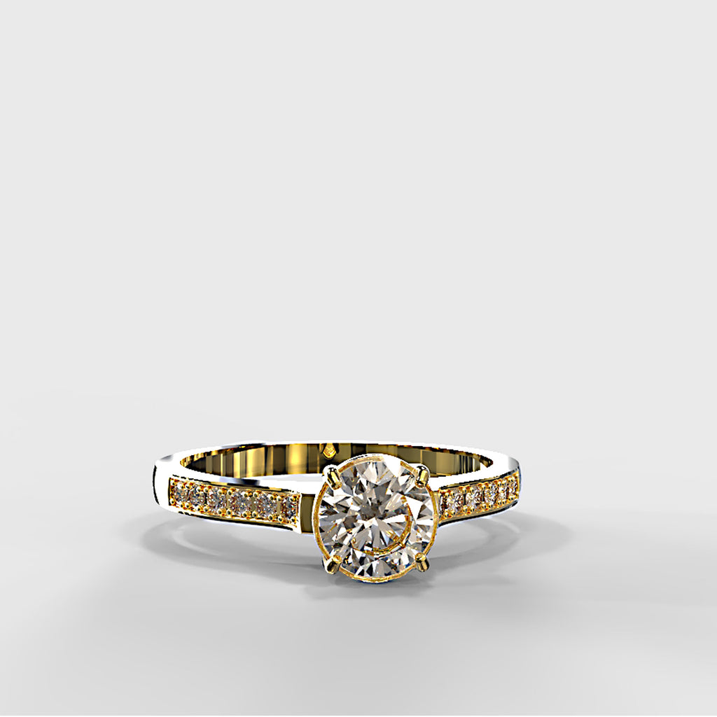 Zara Collection - Gold Engagement Ring - 03BS01