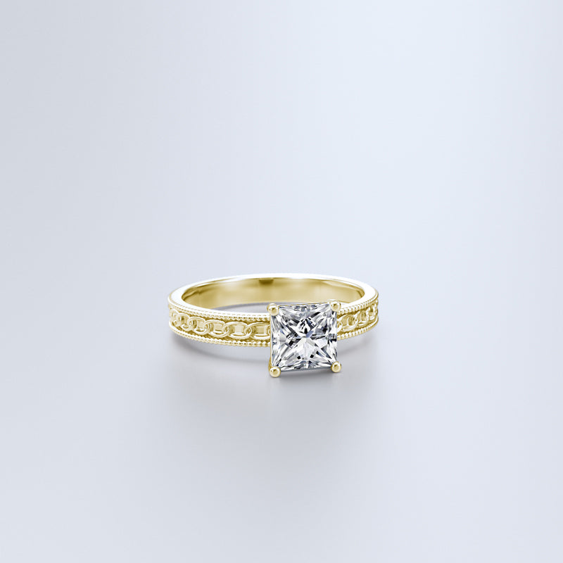 Zara Collection - Gold Engagement Ring - 03BS03