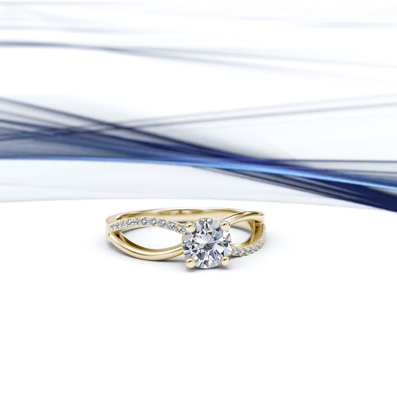 Zara Collection - Gold Engagement Ring - 03BS04