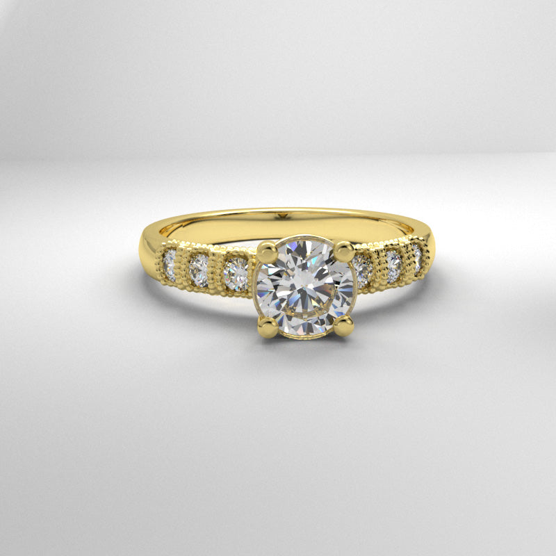 1.24ct Brilliant Cut Diamond Engagement Ring - 03BS05