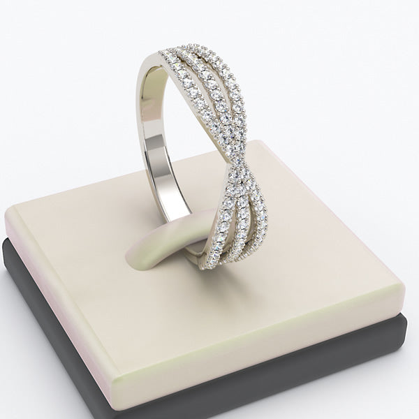 Gold Diamond Wedding Ring  - 03GG10