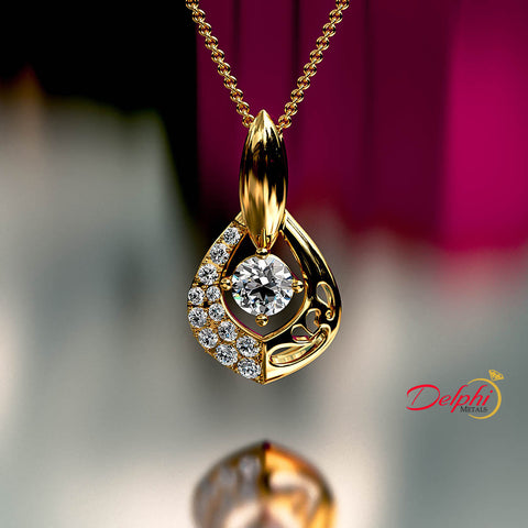 0.7ct Round Diamond Gold Necklace - 03NN05