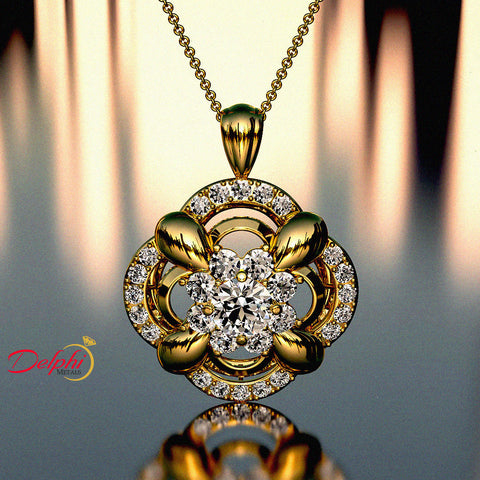2.21ct Brilliant Cut Diamond Gold Necklace - 03NN06
