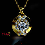 1.4ct Brilliant Diamond Gold Necklace - 03NN08