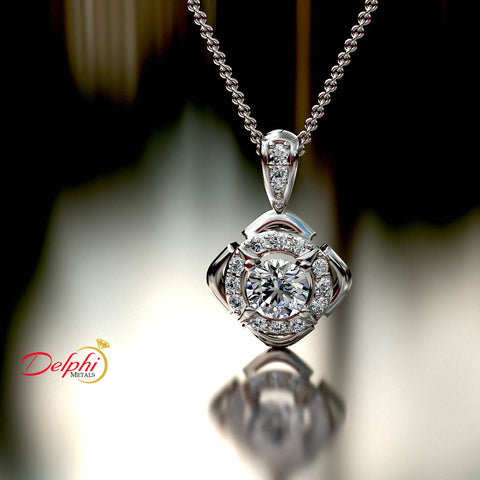 0.6ct Brilliant Diamond Gold Necklace - 03NN09
