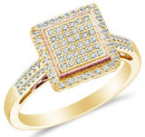 10k White OR Yellow Gold Ladies Womens Diamond Square Engagement Ring - 03RG21