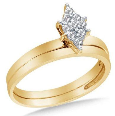 14k Yellow OR White Gold Ladies Bridal Set - 03RG25