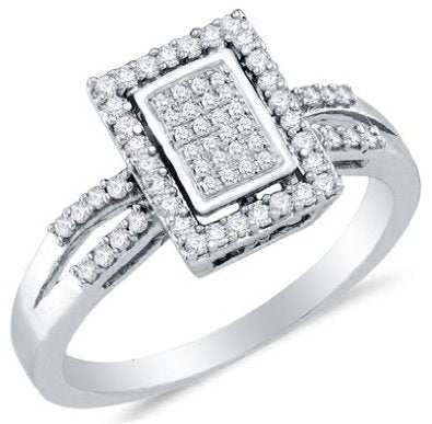 10k Yellow OR White Gold Diamond Micro-Pave Engagement Ring - 03RG31