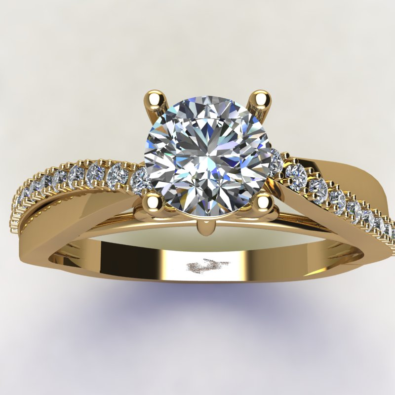 0.72ct Brilliant Diamond Gold Engagement Ring - 03US28