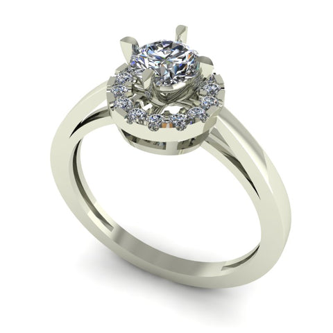 0.64ct Brilliant Cut Diamond Gold Engagement Ring - 03US29