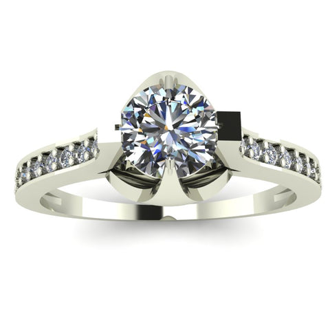 0.63ct Brilliant Cut Diamond Gold Engagement Ring - 03US32