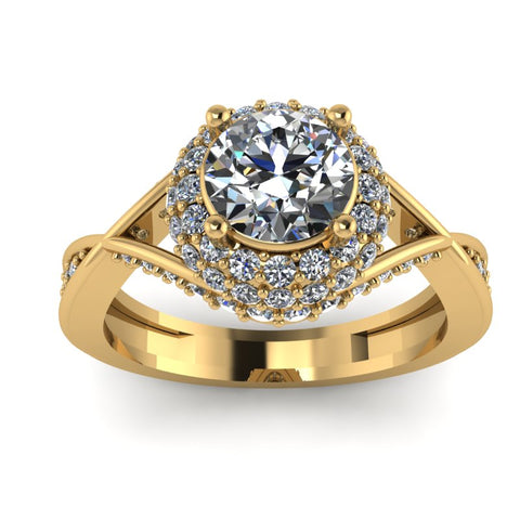 1.49ct Brilliant Cut Diamond Gold Engagement Ring - 03US33