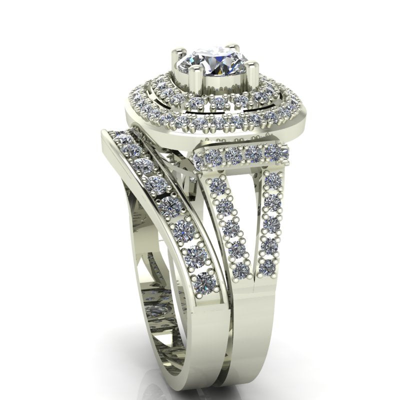 1.29ct Round Diamond Gold Bridal Set  - 03US48