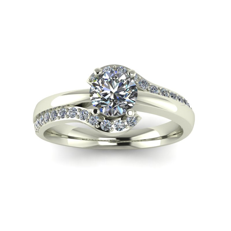 0.62ct Round Diamond Gold Engagement Ring - 03US62