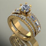 2.21ct Diamond Gold Bridal Set  - 03US87
