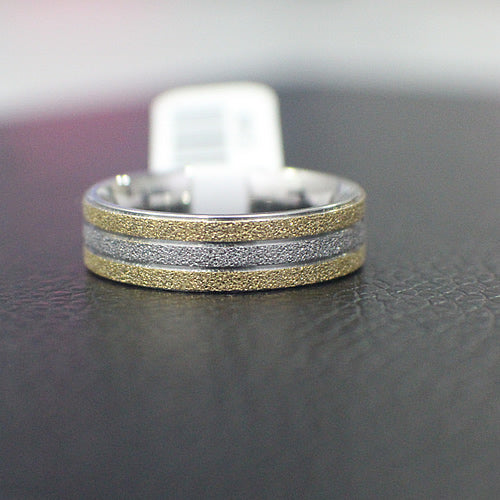 Stainless Steel Wedding Band - 04AS03