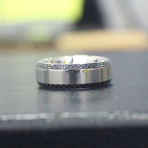 Stainless Steel Wedding Band - 04AS05