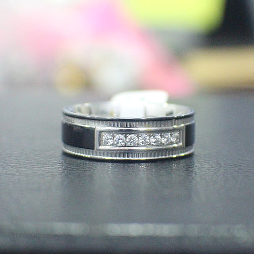 Stainless Steel Wedding Band - 04AS06