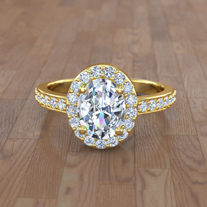 Oval Gold Engagement Ring - 04GG44