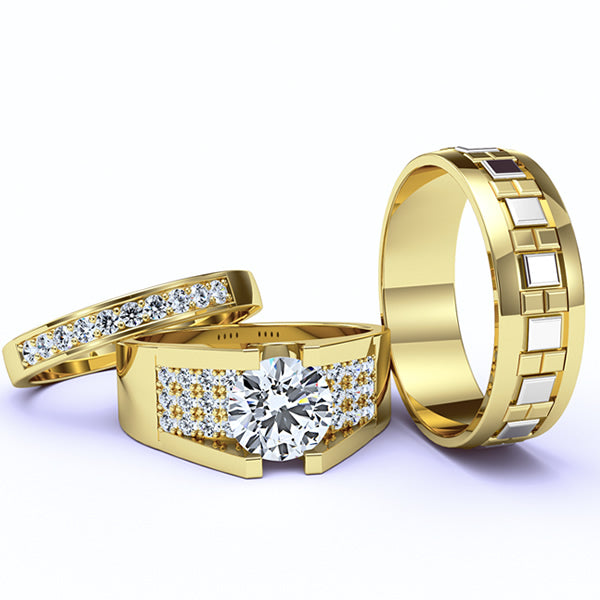 Gold Complete Wedding Set - 04GG97