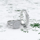 Round Cut Diamond Wedding Set - 04RG05
