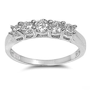Sterling Silver Engagement Promise Ring - 05AB26