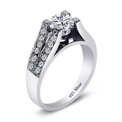 Ladies Sterling Silver Ring - 05AB50
