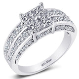 STERLING SILVER ENGAGEMENT RING - 05AB59