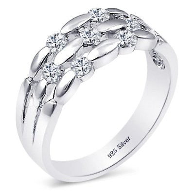 Weave Design Engagement Ring - 05AB61