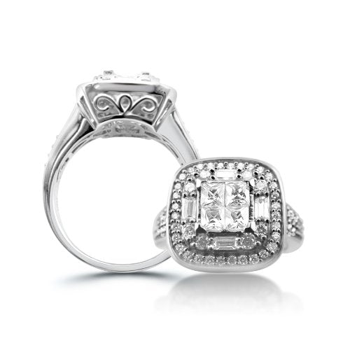 Sterling Silver Cubic Zirconia Engagement Ring - 05AB72