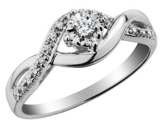 Diamond Infinity Engagement Ring - 05AB73