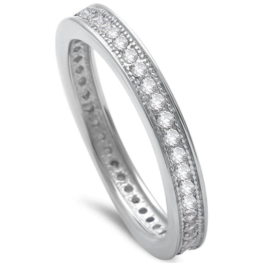 Sterling Silver Eternity Wedding Band - 05AS29
